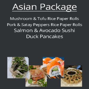 asian finger food blackboard packages