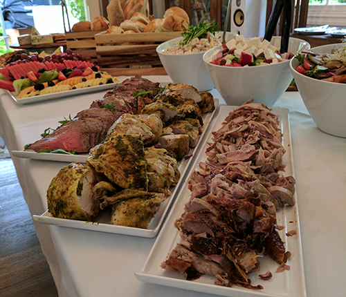 buffet catering menus