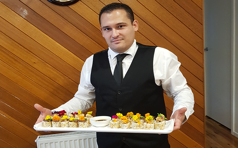 waiter finger food sydney catering event