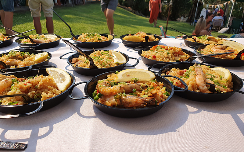 wedding paella station catering