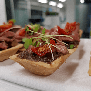 beef tart finger food canape catering service