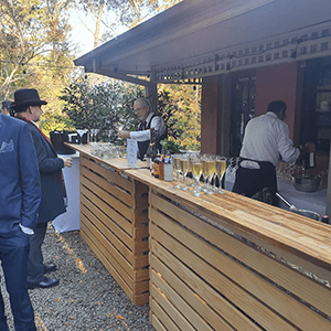 buffet party catering service with beverage bar