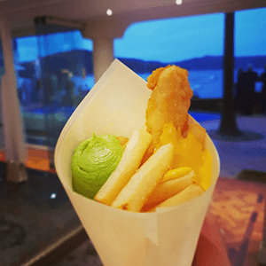 fish chips finger food canape catering service
