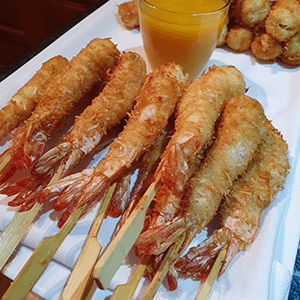 prawns finger food canape catering service