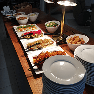 rustic birthday buffet table catering