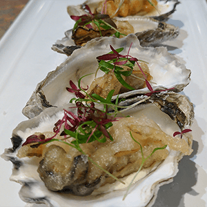 tempura oysters finger food catering